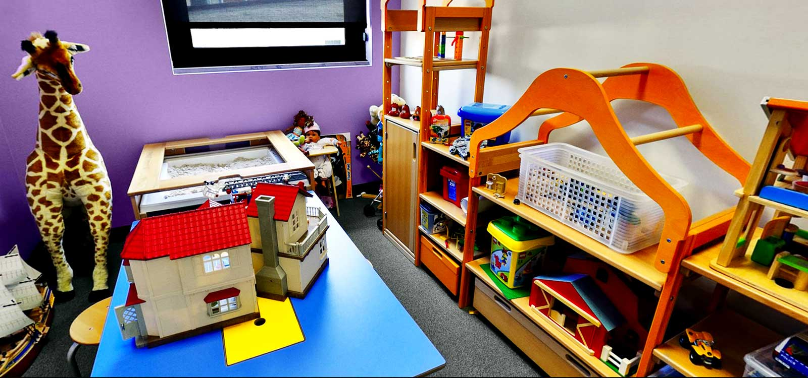 A photo of the play room at Safe Shores