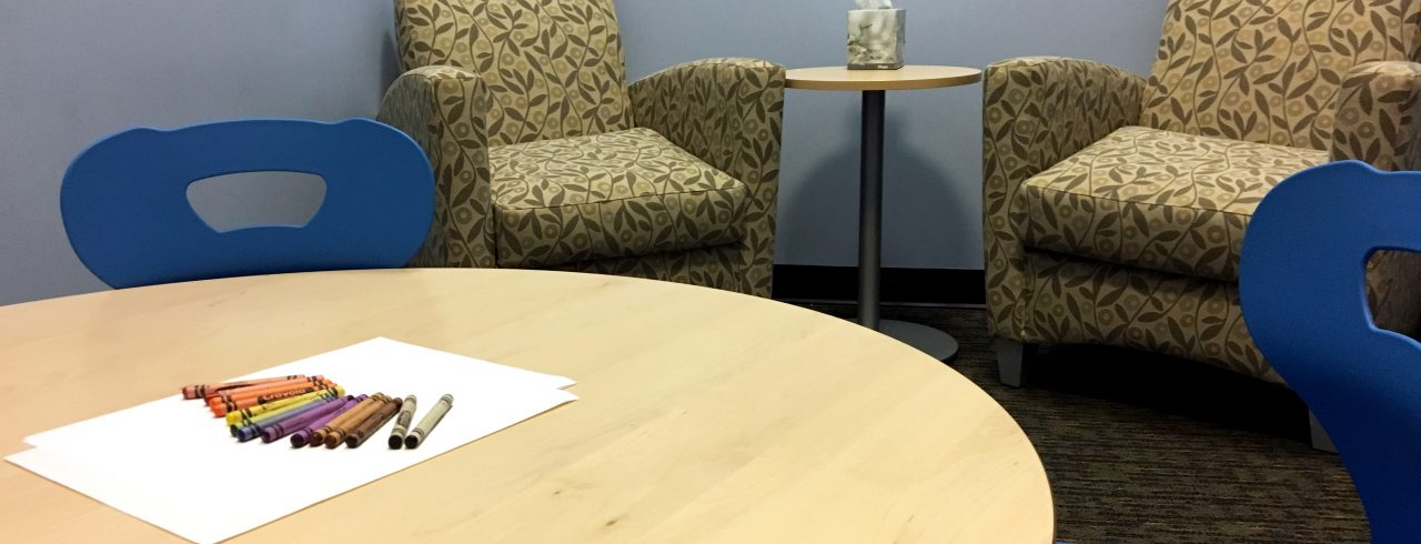 A photo of an Interview Room at Safe Shores
