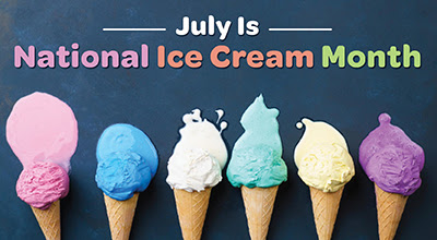 Safe Shores reminds you to celebrate National Ice Cream Month this July.
